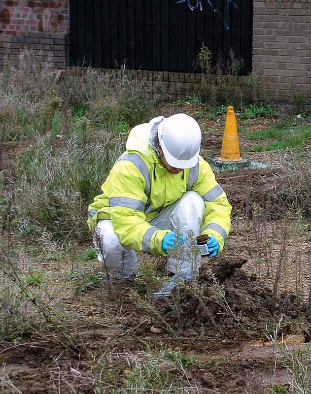 Testing the ground for contamination