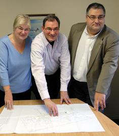 Photo showing Kathy, Gary and Nigel