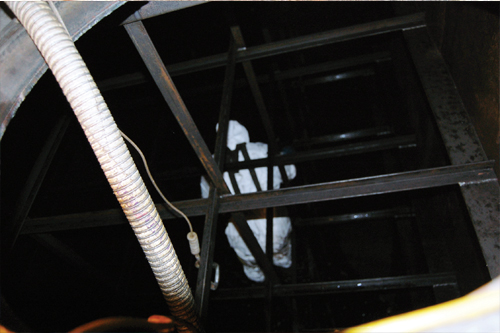 Inside a generator fuel tank