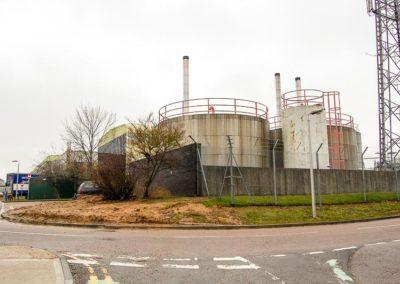 Bulk Fuel tanks in a tank farm location
