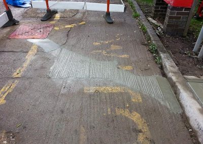 Repair to concrete forecourt following pipeline installation